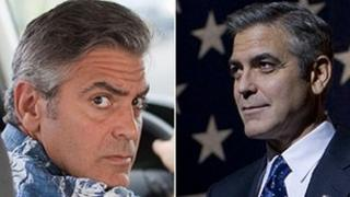 George Clooney in The Descendants (left) and The Ides Of March