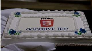 Cake saying Goodbye IE6