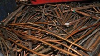 Scrap copper pipes