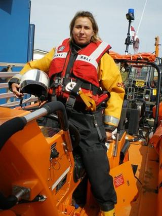 Leesa Espley at Hunstanton lifeboat station