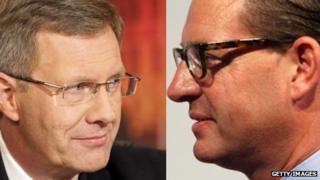 German President Christian Wulff (L) and Bild Chief Editor Kai Diekmann (composite image)