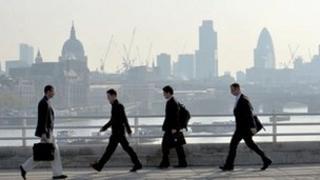 Commuters on London Bridge