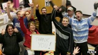 Flack charity members celebrate fund-raising success