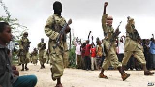 Al-Shabab militants (Archive shot)