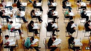 Pupils taking exams (generic)