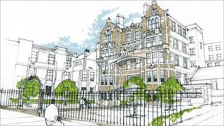 An artist's impression of the infirmary, after its facelift