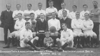The first professional Swansea team