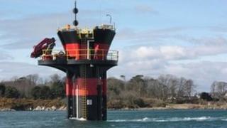 Seagen turbine in Strangford Lough