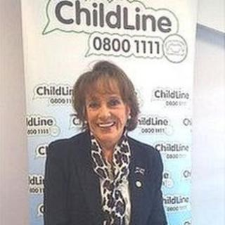Esther Rantzen at ChildLine's office in Cardiff