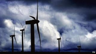 Beinn an Tuirc wind farm on Kintyre
