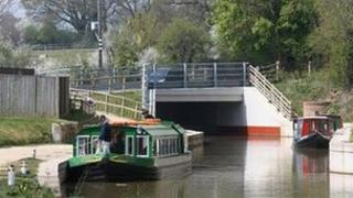 A section of the canal in West Sussex