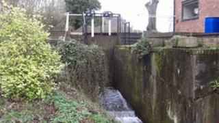 Sluice gate at Tetsill Mill