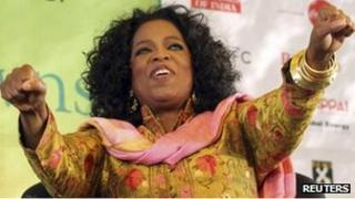 Oprah Winfrey at the Jaipur litfest on Sunday 22 January 2012
