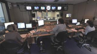 In the studio during BBC's Today programme