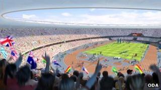 Artist impression of Olympic Stadium