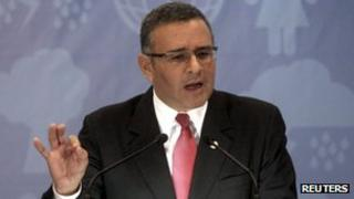 File photo of Mauricio Funes from 16 December 2011