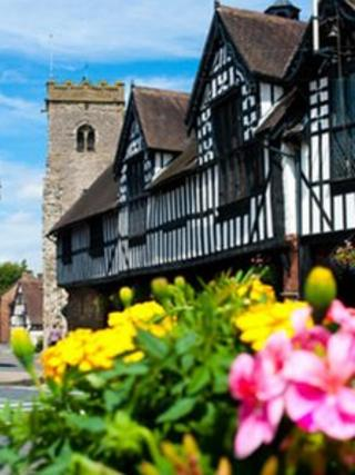 Much Wenlock Guildhall and Parish Church, picture by Shropshire and Telford Destination Management Partnership