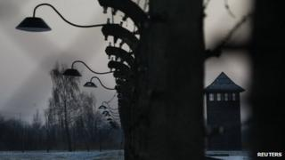 A view of Auschwitz, 27 January 2012
