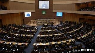 Delegates at the AU summit in Addis Ababa on 29 January 2012