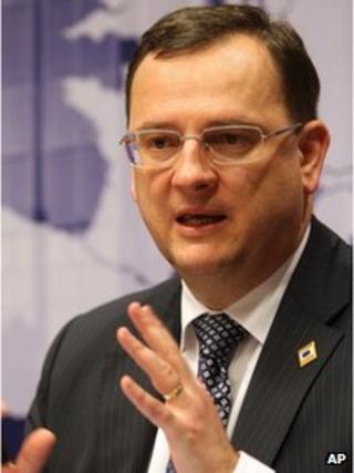 Czech PM Petr Necas (30 Jan 2012)