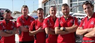 (l-r) Matt Craughwell, Aodhan Kelly, Simon Brown, Yaacov Mutnikas, Ian Rowe, and Mark Beaumont