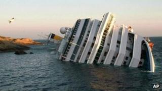The cruise ship Costa Concordia