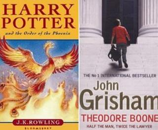 Harry Potter and the Order of the Phoenix and Theodore Boone front covers