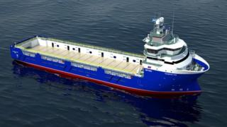 Image of a new platform supply vessel the Craig Group will build