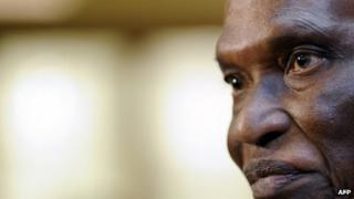 This file photo taken on 29 January 2010 in Davos shows Senegalese President Abdoulaye Wade in Davos. The Constitutional Council upheld a decision to allow the 85-year-old Wade to run in the 26 February election, a ruling that sparked deadly weekend riots in one of Africa's most stable nations.