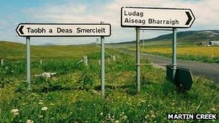 Signs on Barra. Pic: Martin Creek/Geograph