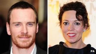 Michael Fassbender and Olivia Colman