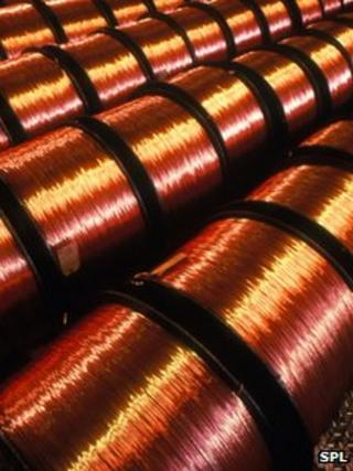 Reels of copper wire