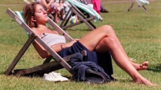 Sunbather in St James's Park