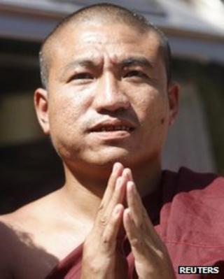 Gambira, leader of the All-Burmese Monks Alliance in Rangoon on 19 January, 2012