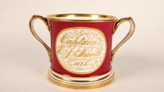 Loving cup given to Captain Smith from the Titanic