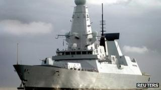 UK Royal Navy destroyer HMS Dauntless, photographed in 2009, which is being sent to the South Atlantic