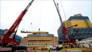 Cranes in Centenary Square