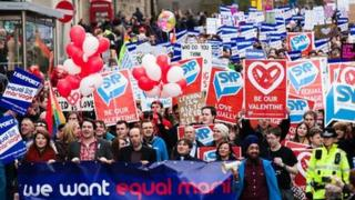 Campaigners march to Holyrood