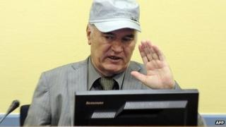 Gen Ratko Mladic in The Hague. File photo