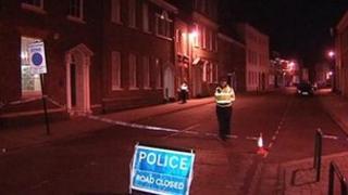 Scene of the crash in King's Lynn