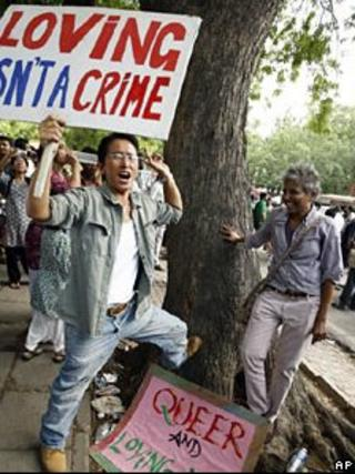 Gay rights activists in India