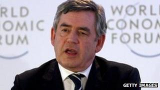 Gordon Brown addressing the World Economic Forum in 2011