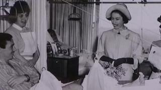 The Queen visiting Addenbrooke's Hospital in 1962