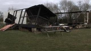 Remains of Eynsham cricket pavilion