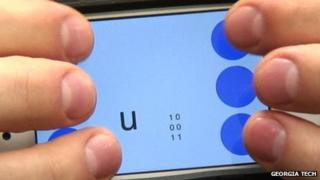 Georgia Tech's Braille texting app