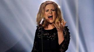 Adele performs at the Brits
