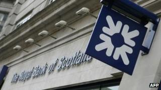 The Royal Bank of Scotland building in the Haymarket in London