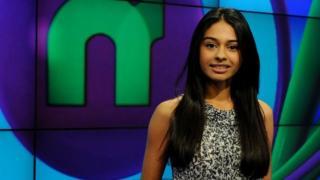 Newsround presenter Nel Hedayat