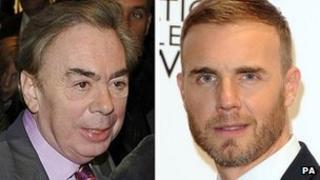 Andrew Lloyd Webber and Gary Barlow