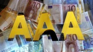 Triple A letters with a backdrop of Euro notes